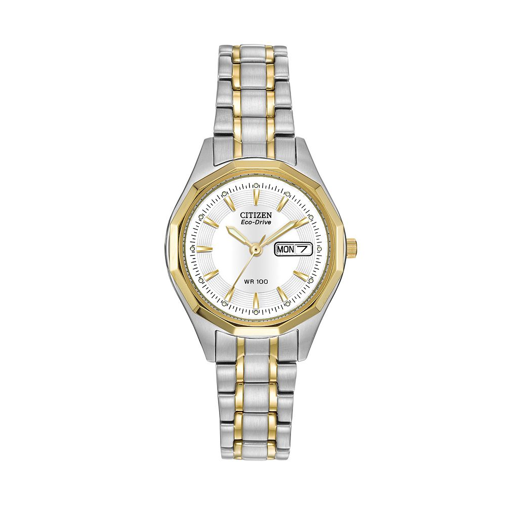 Citizen Eco-Drive Women s Two Tone Stainless Steel Watch - EW3144-51A 080cc38a4d