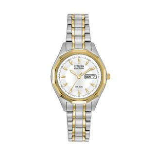 Citizen Eco-Drive Women's Two Tone Stainless Steel Watch - EW3144-51A