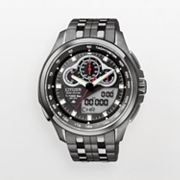 Citizen Eco-Drive Promaster SST Stainless Steel Black Ion Analog and Digital Chronograph Watch - Men