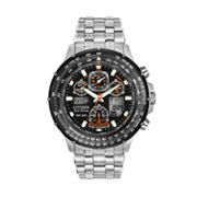 Citizen Eco-Drive Skyhawk A-T Stainless Steel Analog and Digital Flight Computer Chronograph Watch - Men