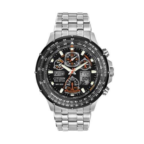 Citizen Watch - Men's Eco-Drive Skyhawk A-T Stainless Steel Analog and Digital Flight Watch - JY0000-53E
