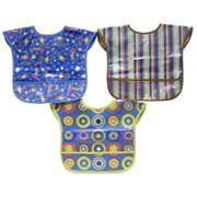 Baby Treasures 3-pk. Patterned Easy-Wipe Bibs