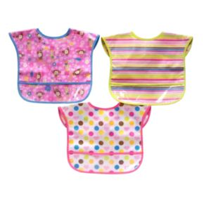 Baby Treasures 3-pk. Patterned Easy-Wipe Bibs
