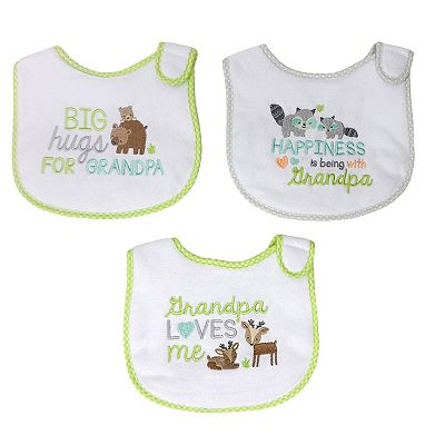 Baby Treasures 3-pk. Grandpa Bibs