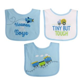 "Baby Boy Baby Treasures 3-pk. ""Thank Heaven for Boys"" Bibs"