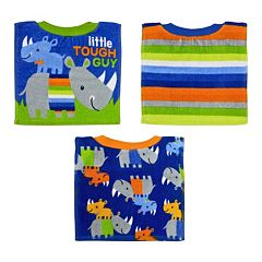 Baby Boy Baby Treasures 3 pkSquare Pull-Over Bibs