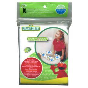 Sesame Street Potty Topper 10-pk Disposable Toilet Seat Covers
