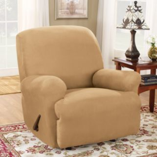 Sure Fit Stretch Suede Recliner Slipcover
