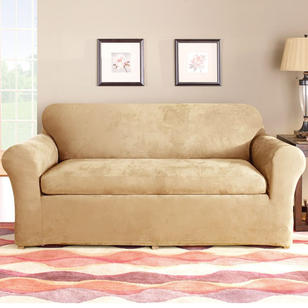 Sure Fit Stretch Devon 4 Piece Sleeper Sofa Slipcover