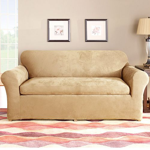 Sure Fit Stretch Suede Sofa Slipcover