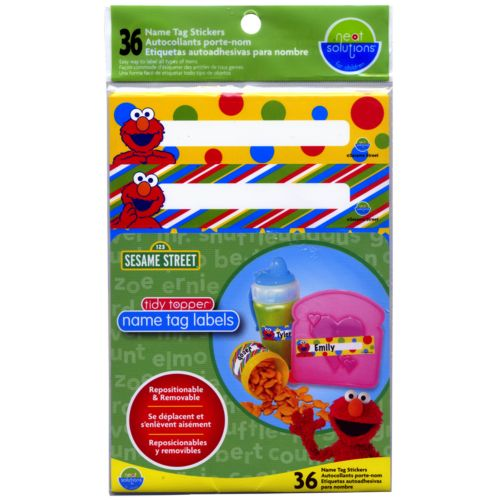 Sesame Street 36-pk. Tidy Topper Name Tag Labels