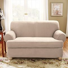 Sure Fit Stretch Suede T Cushion Sofa Slipcover