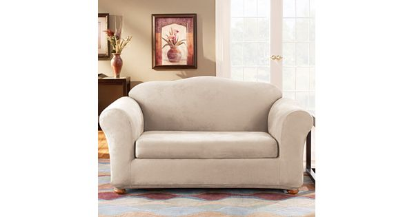 Sure Fit Stretch Suede Loveseat Slipcover 2 Piece