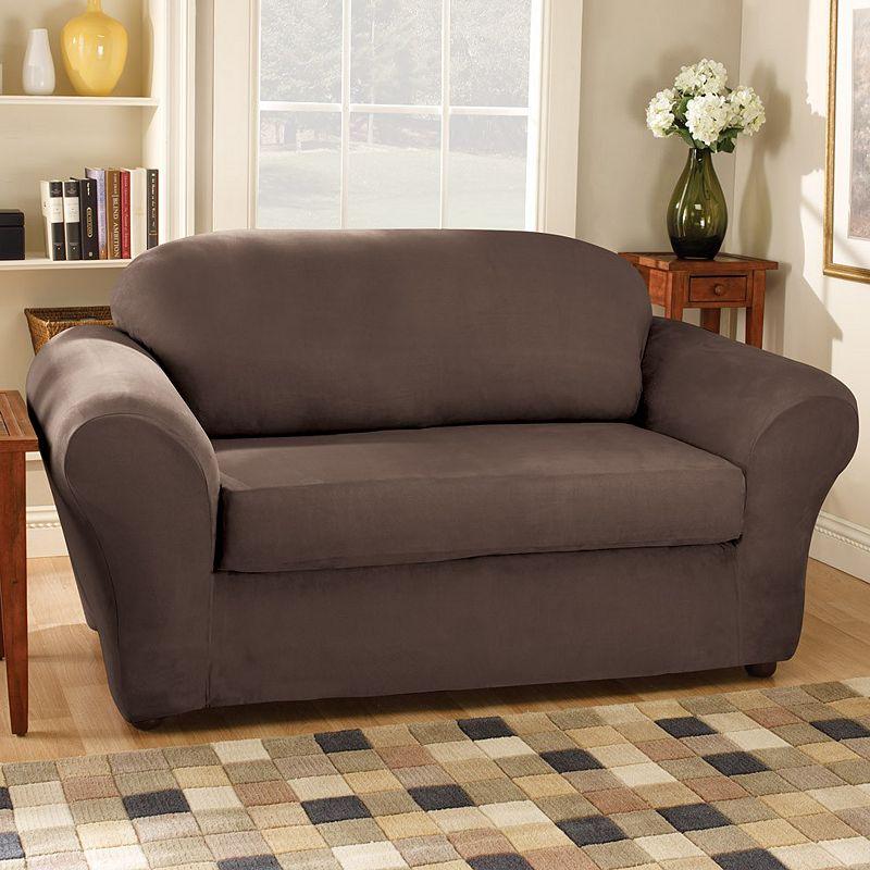 burgundy polyester sofa slipcover kohl 39 s