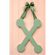 A to Z Sage Gingham Hanging Letters