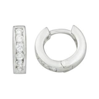 Sterling Silver Cubic Zirconia Hoop Earrings - Kids