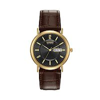Citizen Eco-Drive Men's Leather Watch - BM8242-08E
