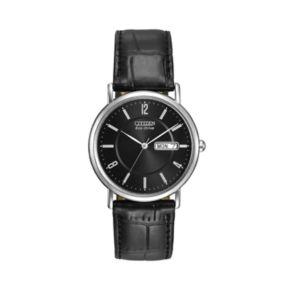 Citizen Eco-Drive Men's Leather Watch - BM8240-03E