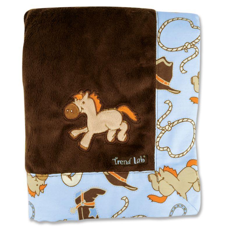Trend Lab Cowboy Baby Receiving Blanket, Multicolor