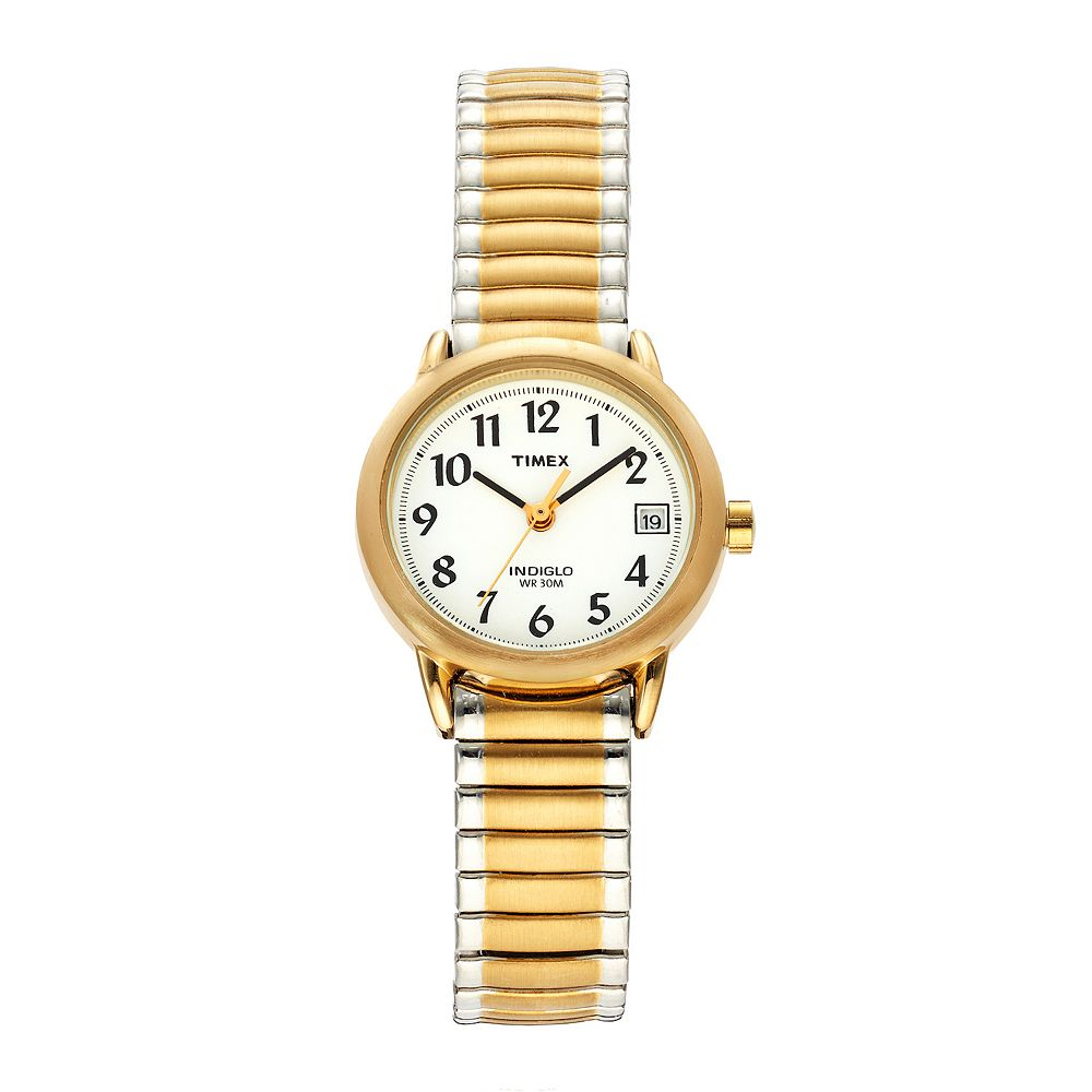 5c455664d027 Timex Women s Easy Reader Two Tone Stainless Steel Expansion ...