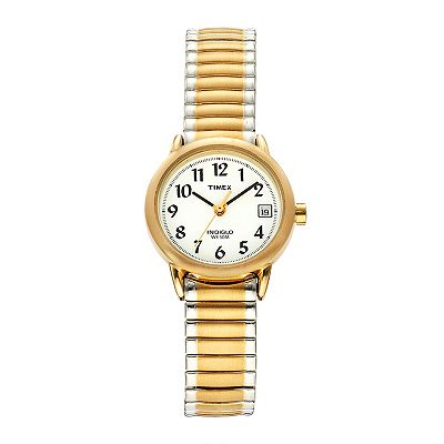 Timex Easy Reader Two Tone Stainless Steel Expansion Watch - T2H381 - Women