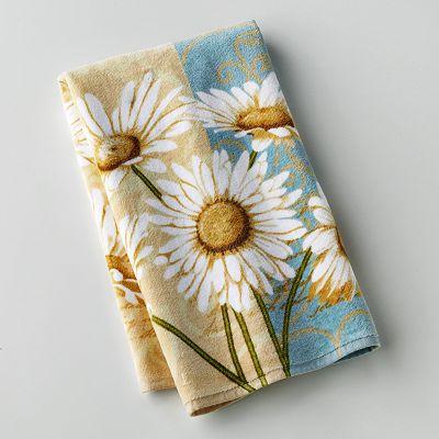 Daisy Kitchen Decor: ***Set Of 4*** Croft & Barrow Daisy Cotton Kitchen Towel