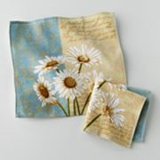 Croft and Barrow Daisy 2-pk. Dishcloths