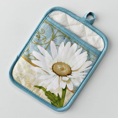 Croft and Barrow Daisy Potholder