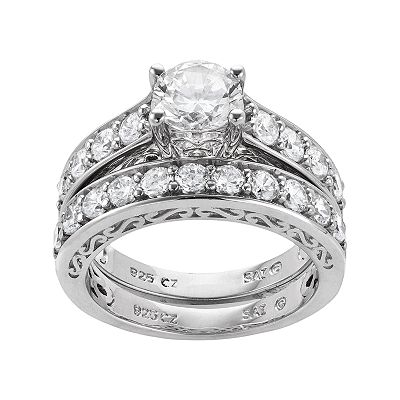 Sterling Silver 3.29-ct. T.W. DiamonLuxe Ring Set