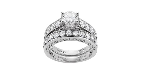 Diamond Rings For Sale Kohls: DiamonLuxe Sterling Silver 3.29-ct. T.W. Simulated Diamond