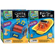 Slinky Science Crystal Radio and Electric Motor Combo Pack