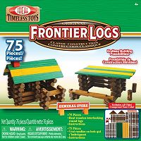Ideal 75 pc Frontier Logs Wood Construction Set