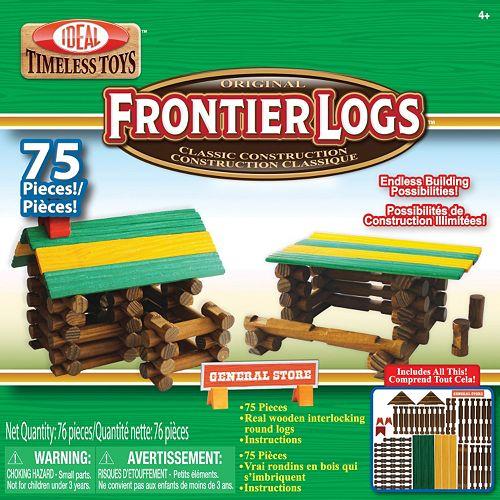 Ideal 75-pc. Frontier Logs Wood Construction Set
