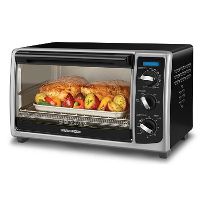 Black & Decker 6-slice Toaster Oven with Aadjustable Controls, Toast Setting