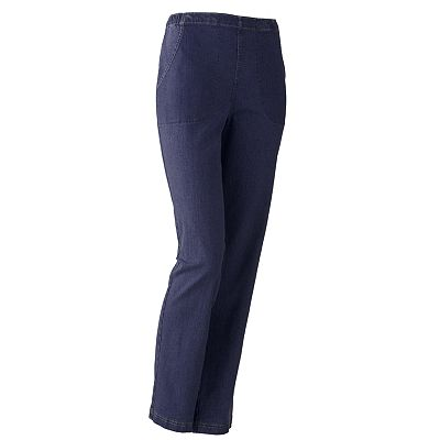 Croft and Barrow Tapered Pull-On Jeans