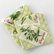 Croft and Barrow Herbs 2-pk. Dishcloths