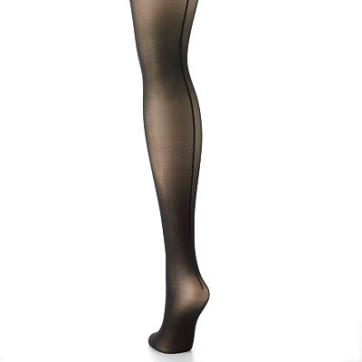 Hanes Silk Reflections Sheer Backseam Control-Top Pantyhose