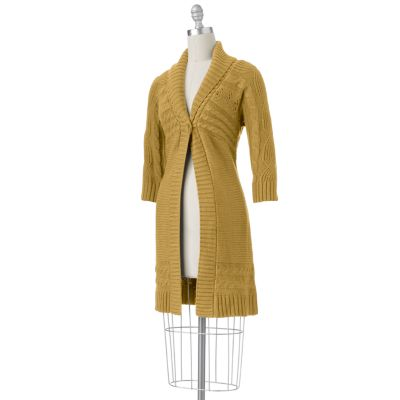 SONOMA life + style Cable-Knit Flyaway Sweater Coat