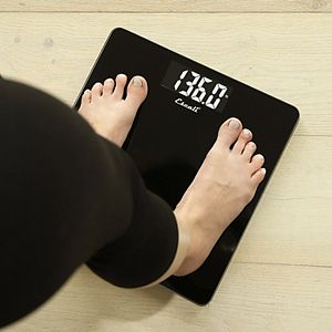 Escali Colored Square Digital Bathroom Scale