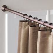 Home Classics Finial Shower Curtain Rod