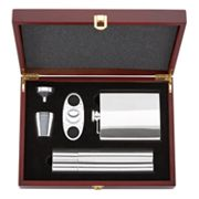 Gorham 5-pc. Flask and Cigar Set
