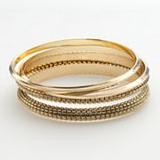 Dana Buchman Gold Tone Bangle Bracelet Set