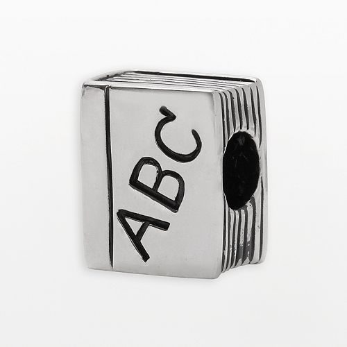 "Individuality Beads Sterling Silver ""ABC"" Book Bead"