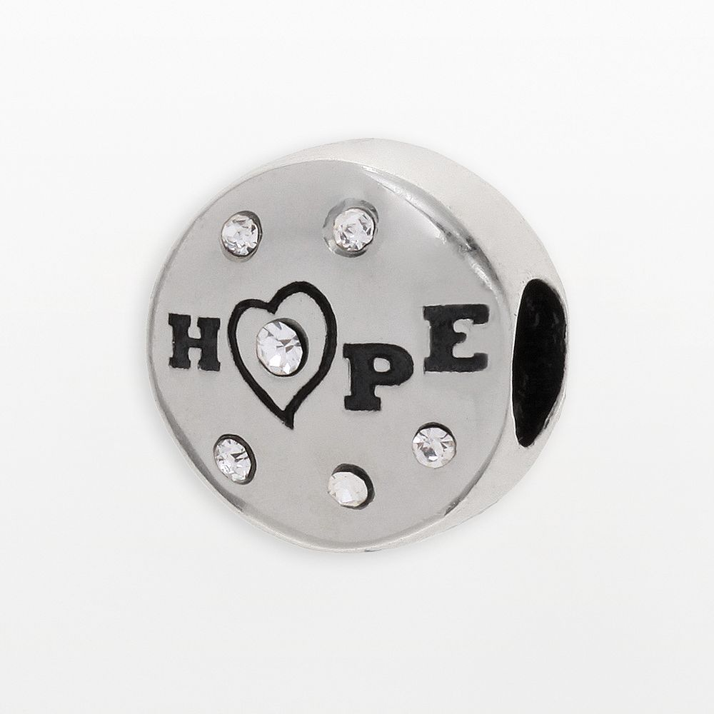 """Individuality Beads Sterling Silver Crystal """"Hope"""" Bead"""