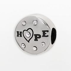Individuality Beads Sterling Silver Crystal 'Hope' Bead
