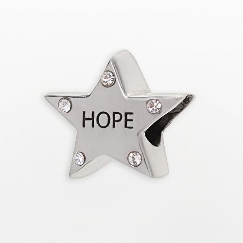 "Individuality Beads Sterling Silver Crystal ""Hope"" Star Bead"