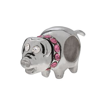 Individuality Beads Sterling Silver Crystal Pig Bead