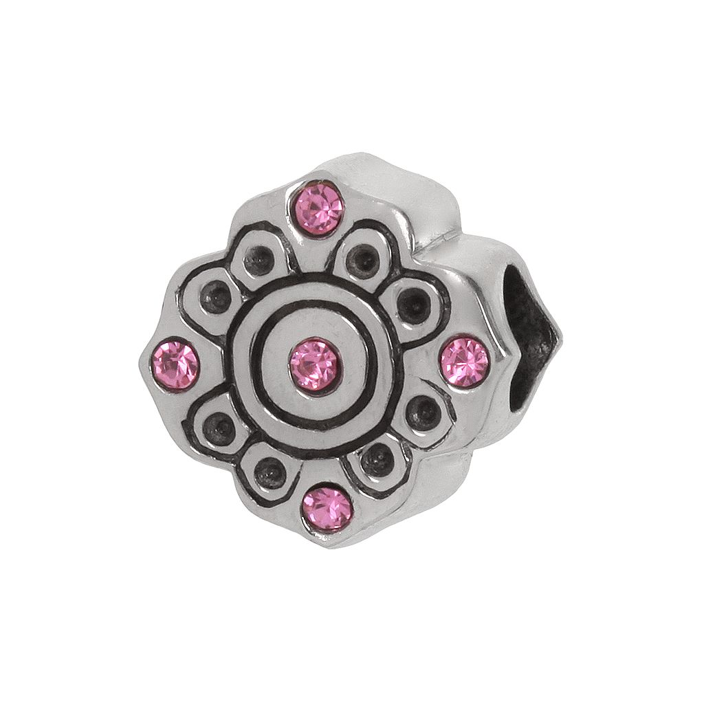 Individuality Beads Sterling Silver Crystal Flower Bead