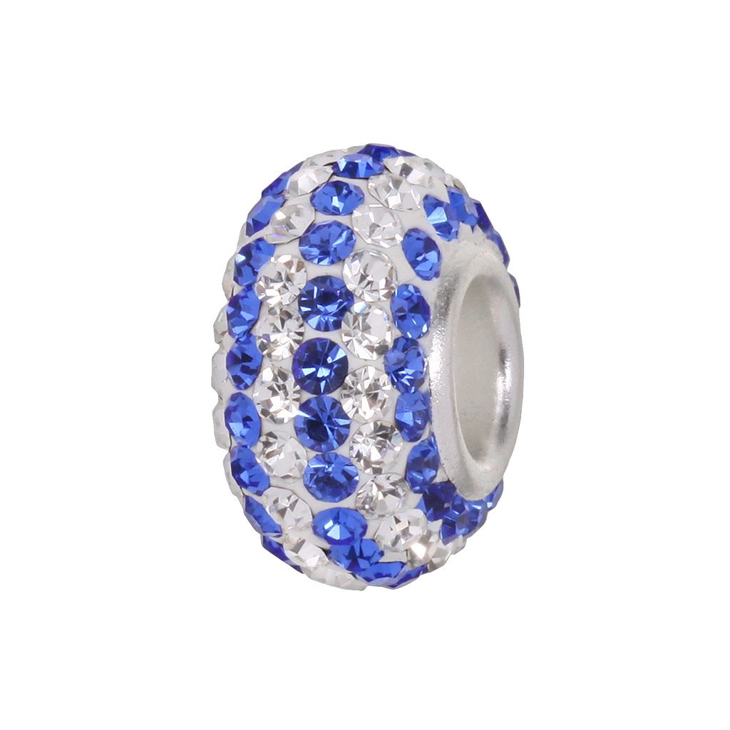 Individuality Beads™ Sterling Silver Crystal Striped Bead
