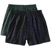 Croft and Barrow 2-pk. Checked Knit Boxers